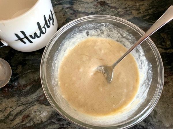 gluten free snickerdoodle mug cake batter