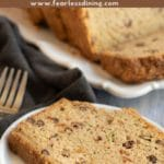 a pinterest collage of the zucchini bread