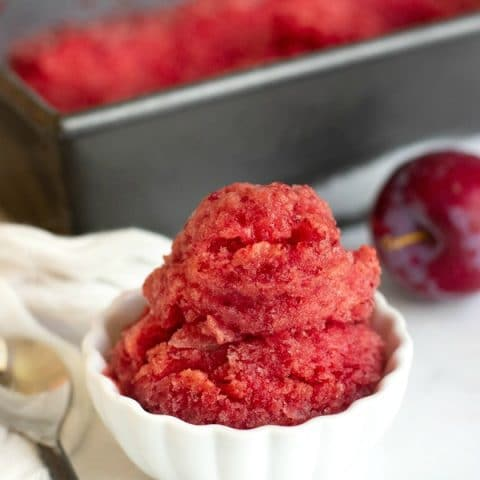 Easy Homemade Plum Vegan Sorbet