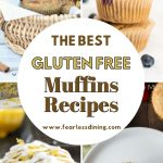 a pinterest collage of muffins photos