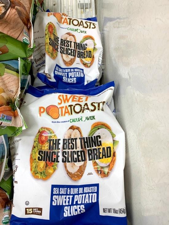 sweet potato toasts at the market