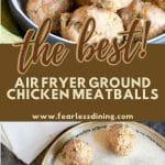 chicken meatballs pinterest collage