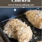 a pinterest collage photo of the fried chicken