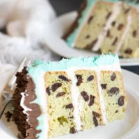 Gluten Free Mint Chocolate Chip Cake