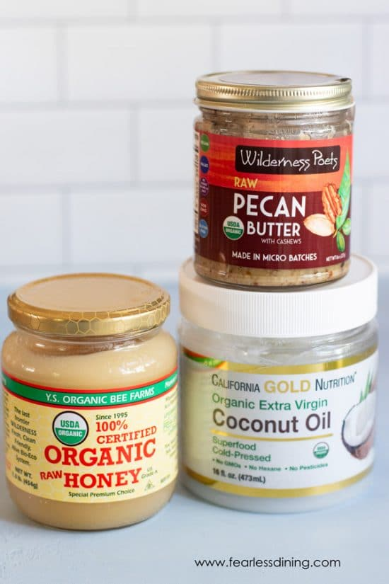 pecan butter, honey, and coconut oil