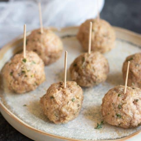 Air Fryer Gluten Free Ground Chicken Meatballs