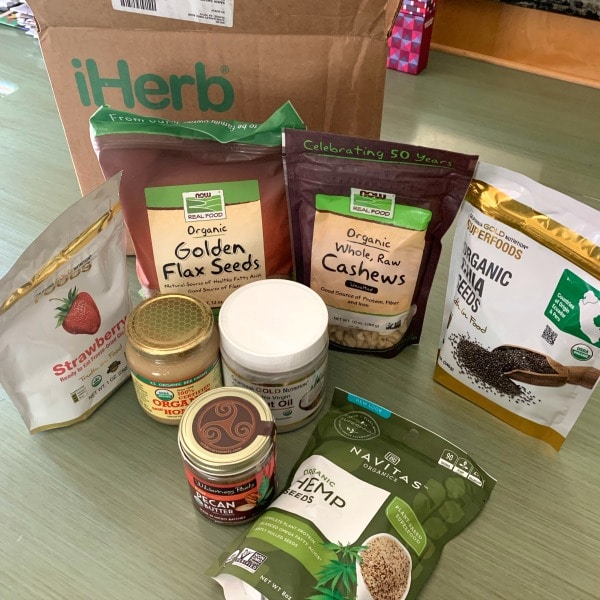 unpacked gluten free products from iHerb