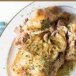 a pinterest collage of the slow cooker lemon chicken