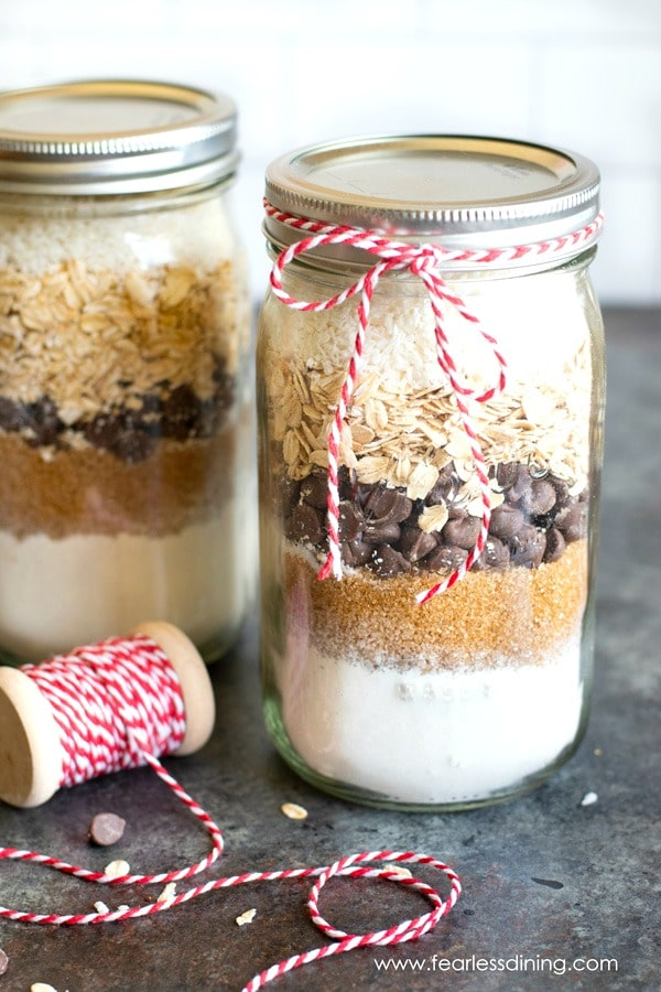 Gluten Free Cookie Mix In A Jar Gift Giving Fearless Dining
