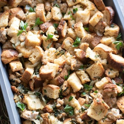 Traditional Gluten Free Stuffing with Fresh Herbs