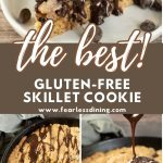 Pinterest collage of skillet cookie photos