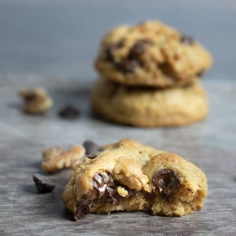 Gluten Free Chocolate Chip Walnut Cookies