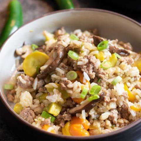 Ground Pork Fried Rice