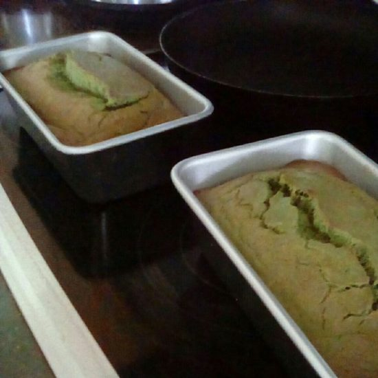 Reader Baily F photos of her finished matcha banana bread.