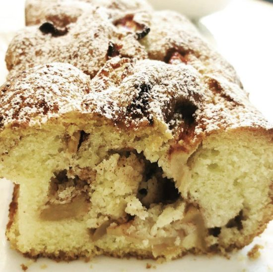 a picture of reader Iza's baked apple cake