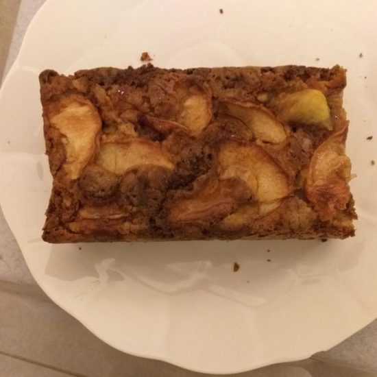 a picture of this German apple cake made loaf style by a reader named Vijaya M.