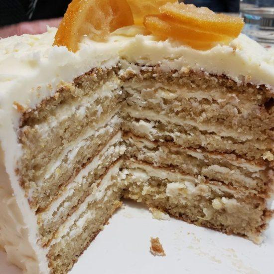 Pinterest user, Hello Lovely's, photo of her finished lemon layer cake