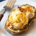 hero image of the twice baked potato on a plate