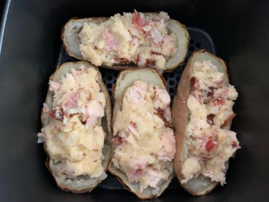 stuffed potatoes ready to bake