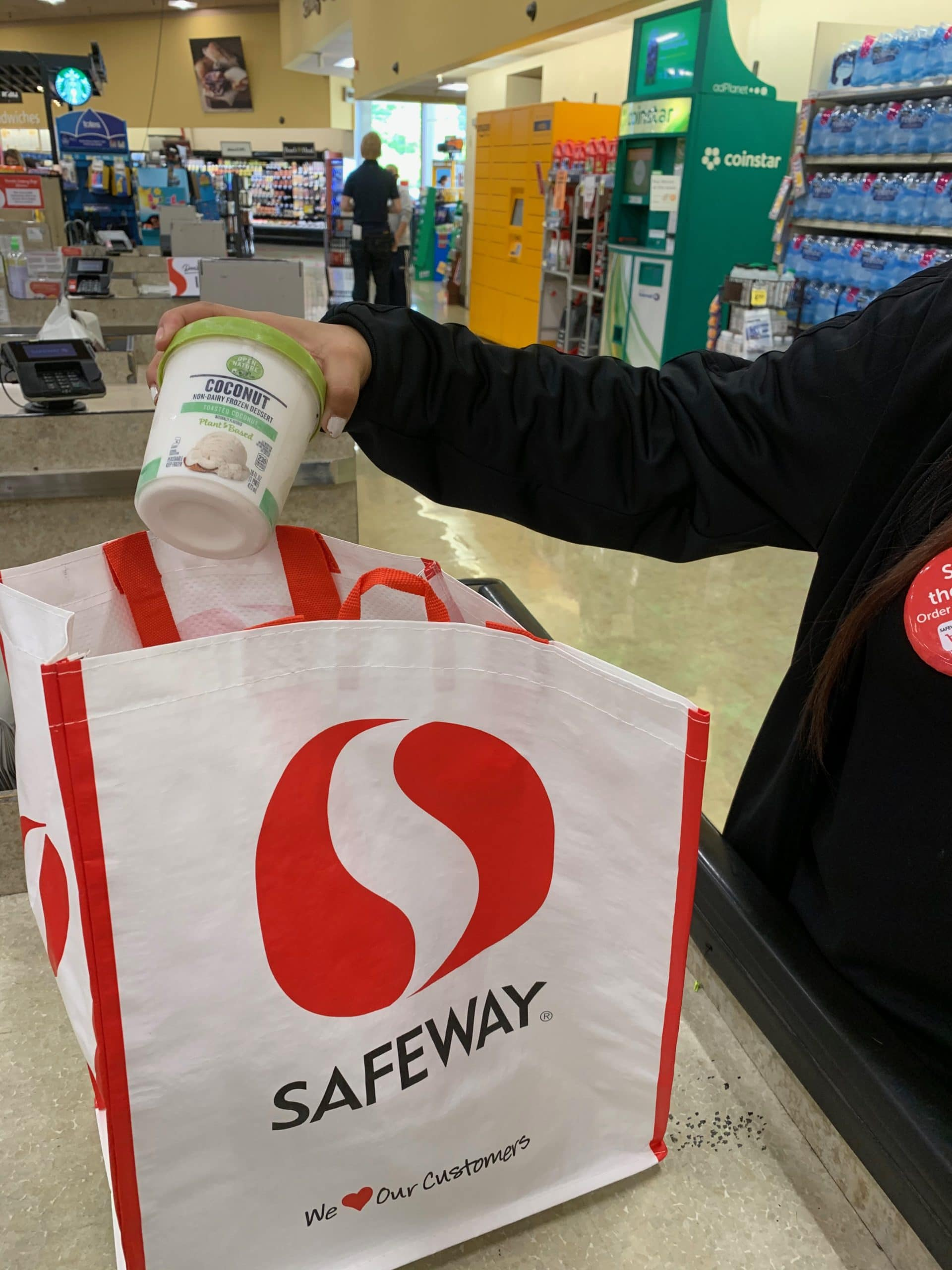 Adding product to the Safeway bag
