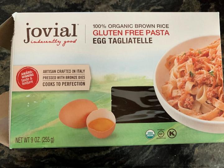 a box of jovial gluten free pasta