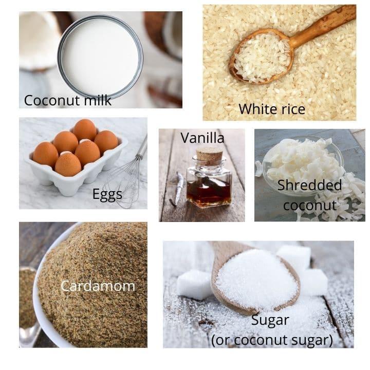 gluten free rice pudding ingredients