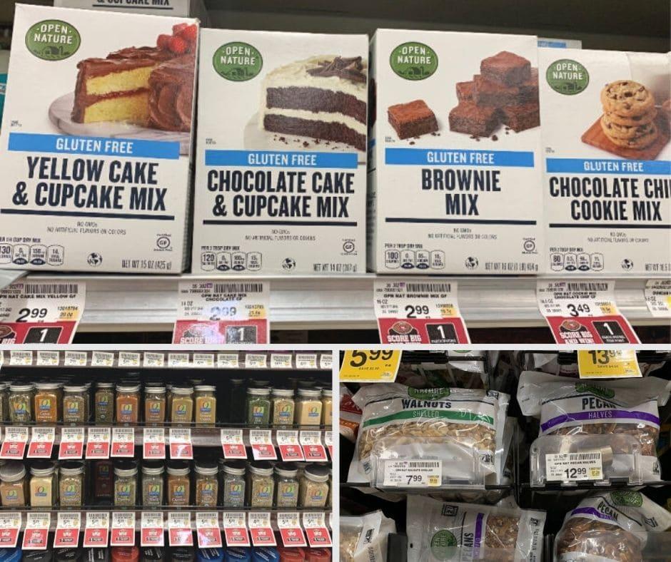 Safeway gluten free baking products on a shelf