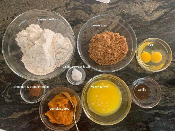 ingredients to make the pumpkin cookies