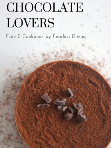 the cover of the free chocolate e-cookbook