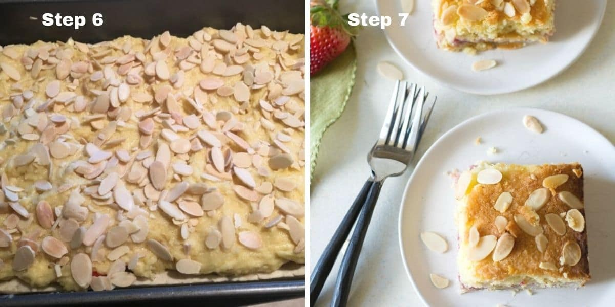 bakewell tart steps 6 and 7
