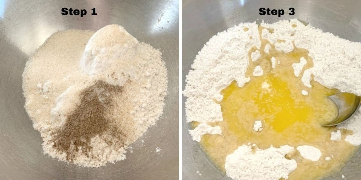 cardamom cookies steps 1 and 2 photos