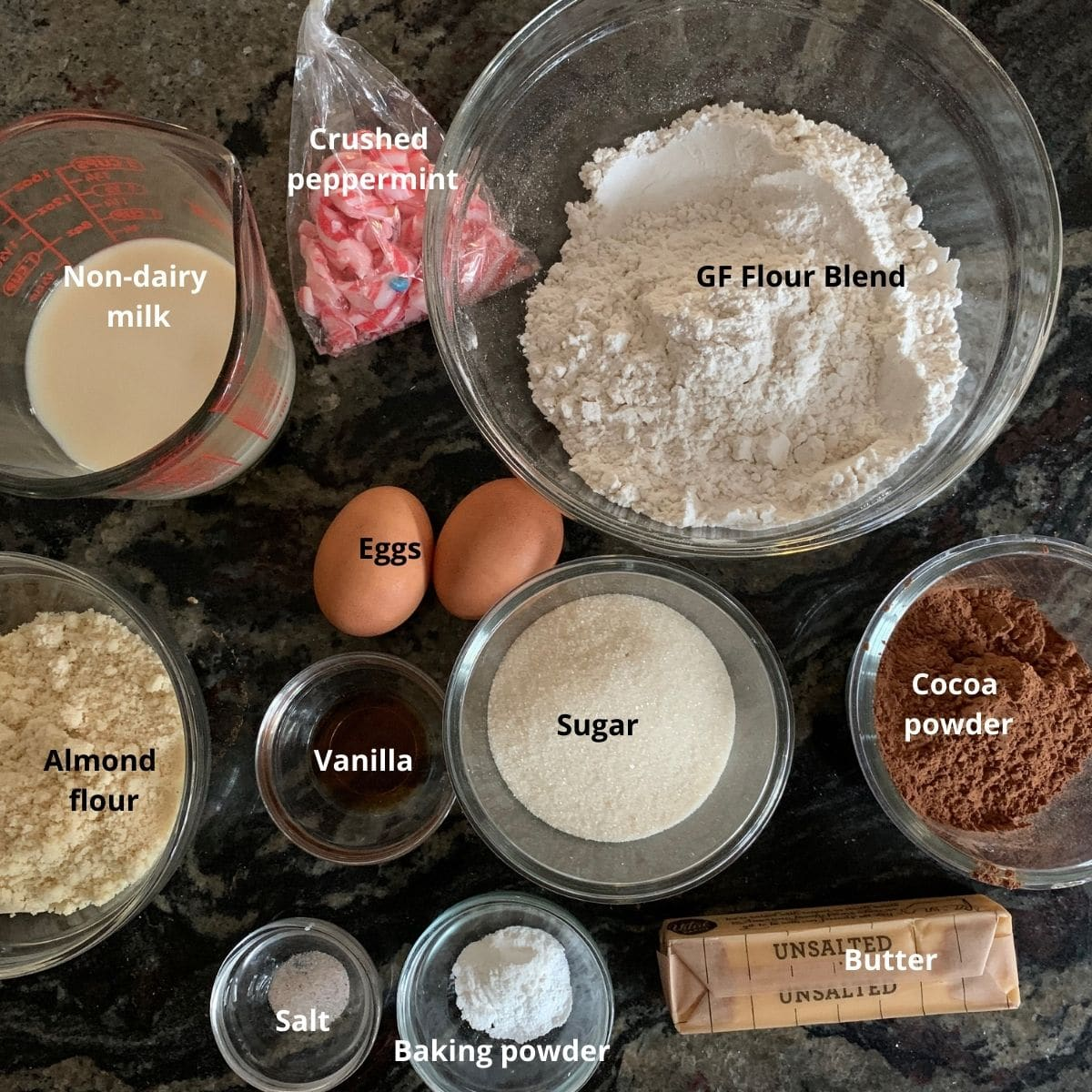 chocolate madeleine cookies ingredients