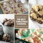 a collage of Christmas cookie photos