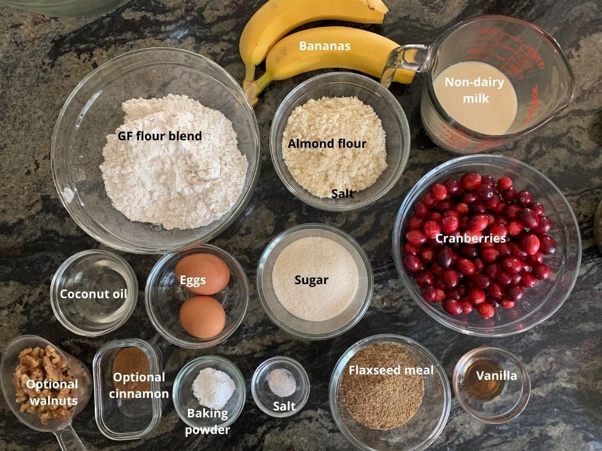 cranberry banana bread ingredients