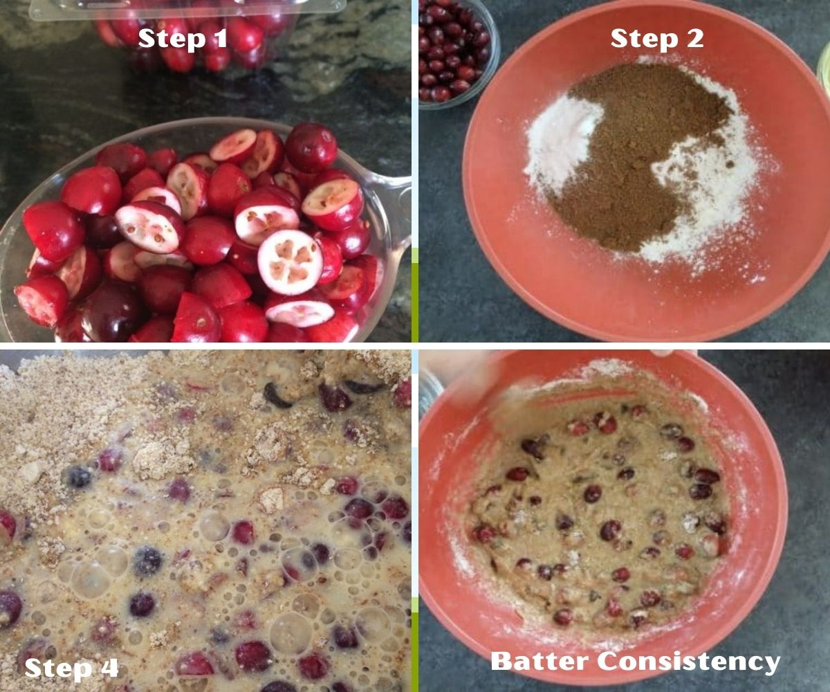 a collage of process steps in making