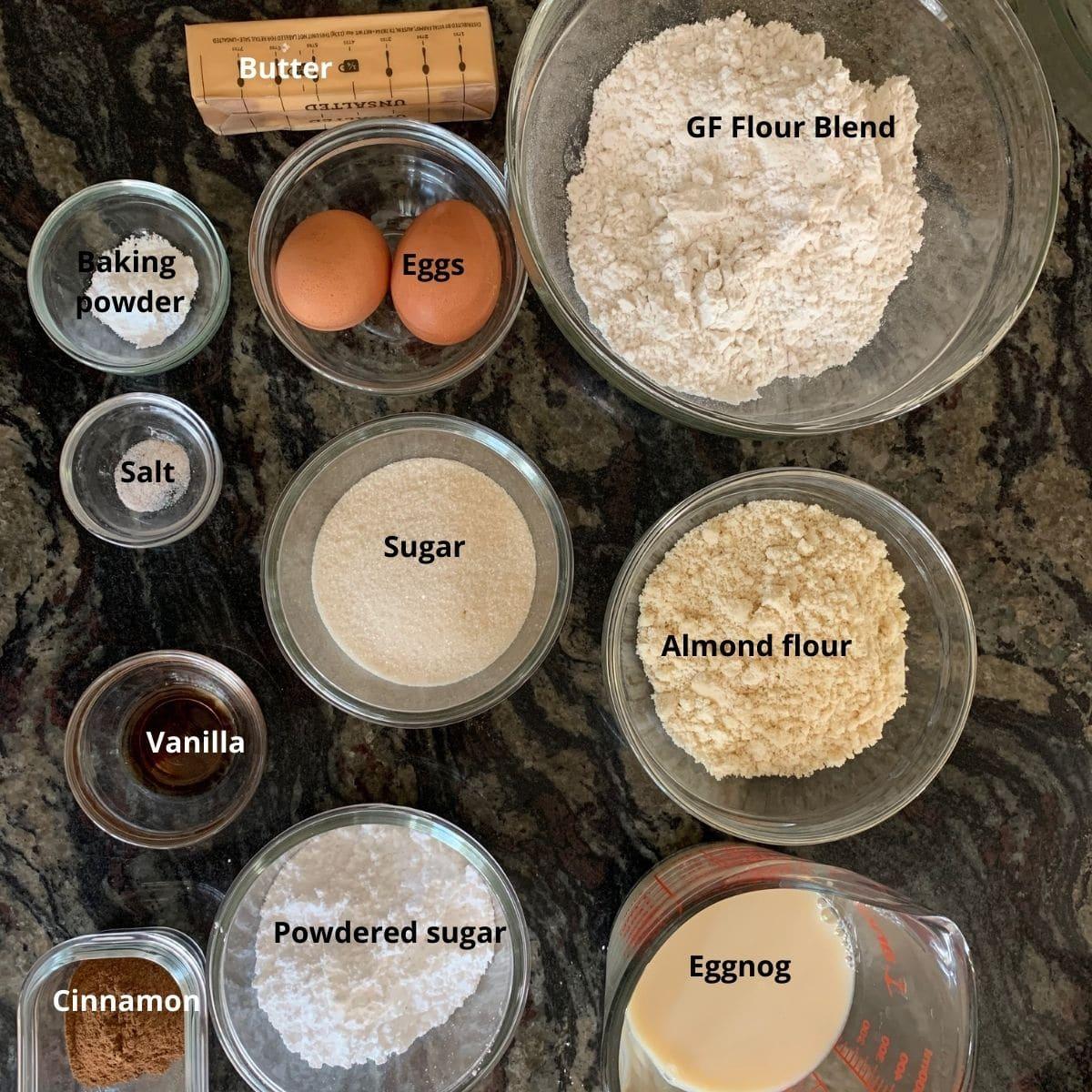 eggnog crinkle cookie ingredients
