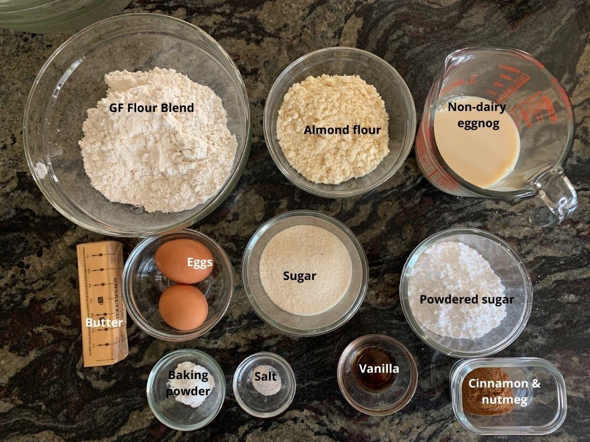eggnog cupcakes ingredients