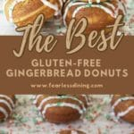 a pinterest collage of gingerbread donuts