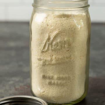 gluten free muffin mix in a mason jar
