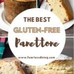 a pinterest collage of panettone pictures