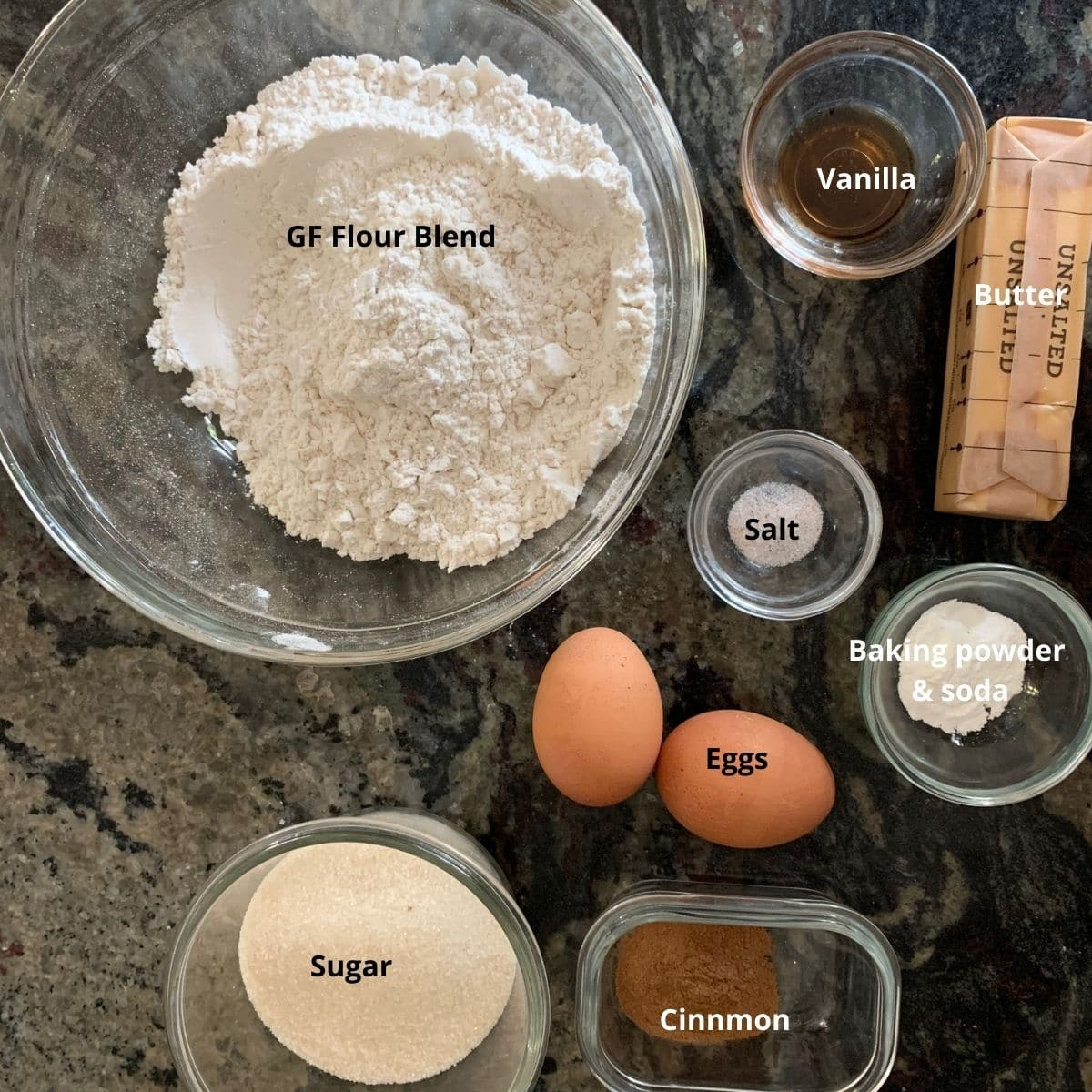 snickerdoodles ingredients on the counter