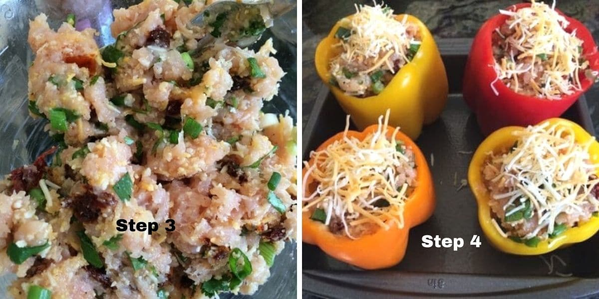 stuffed peppers steps 3 and 4 pictures