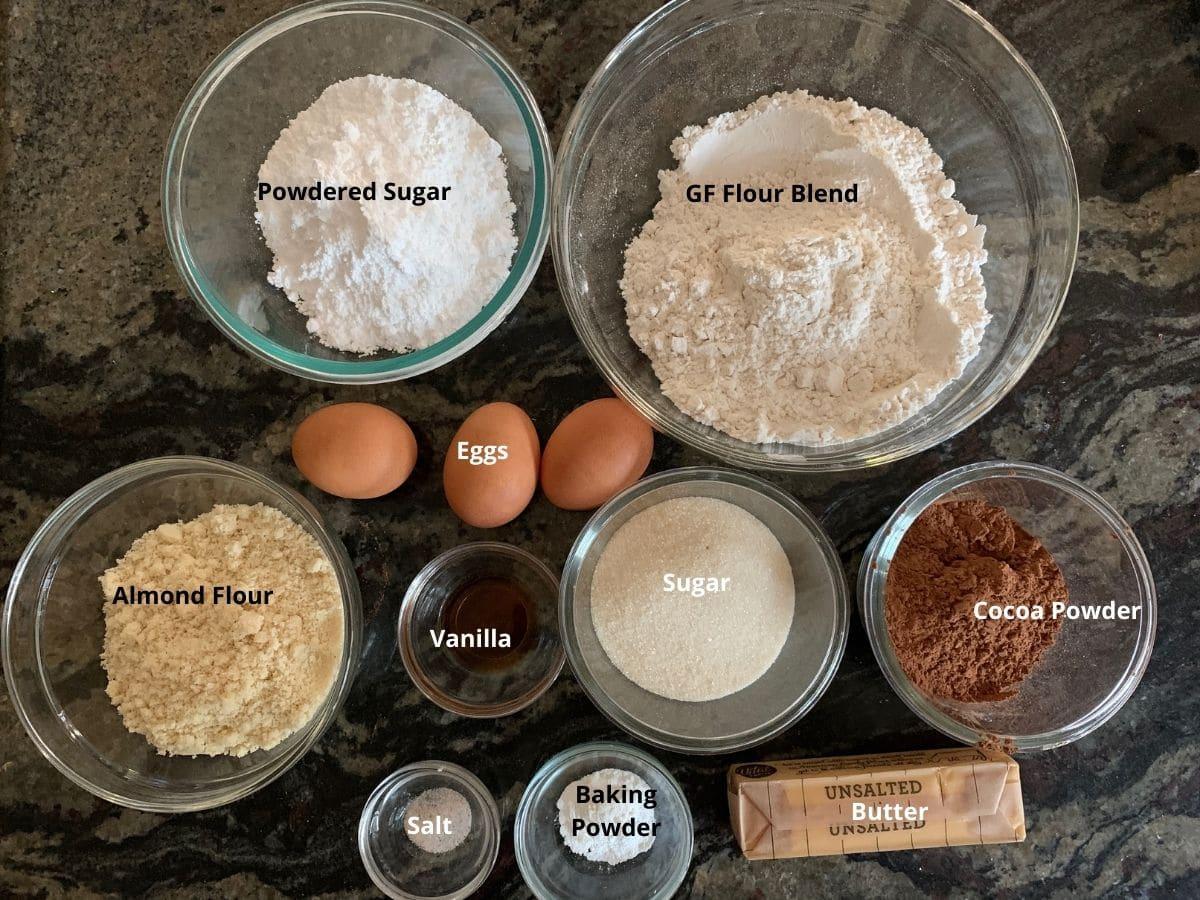 ingredients to make these crinkle cookies