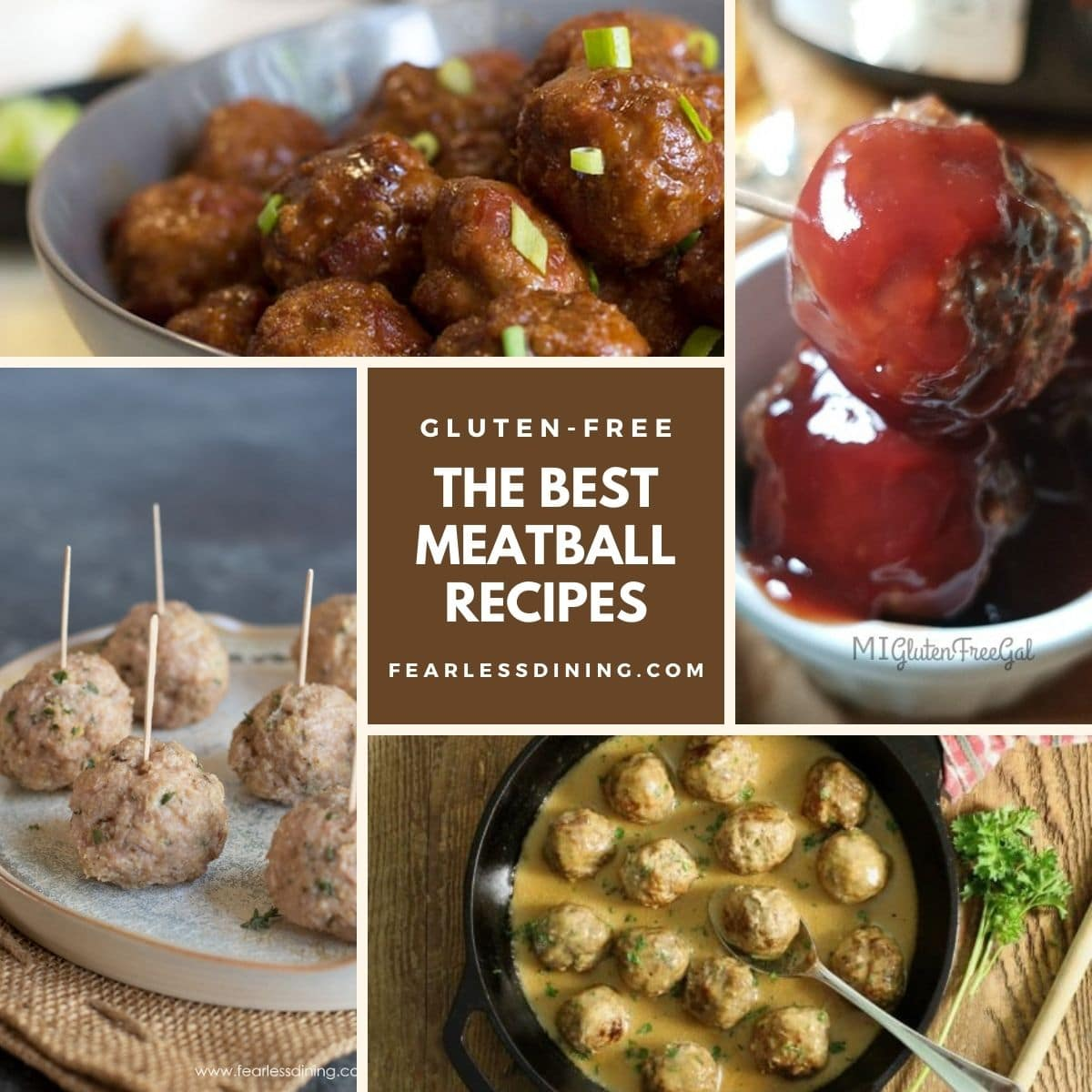 a hero image of four meatball photos