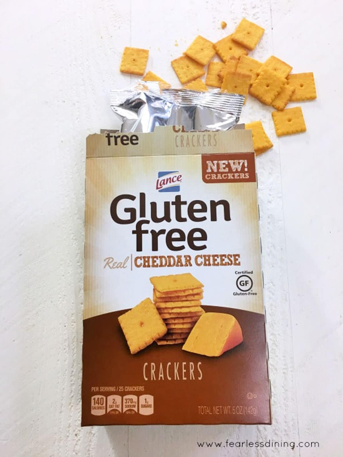 a box of Lance cheese crackers