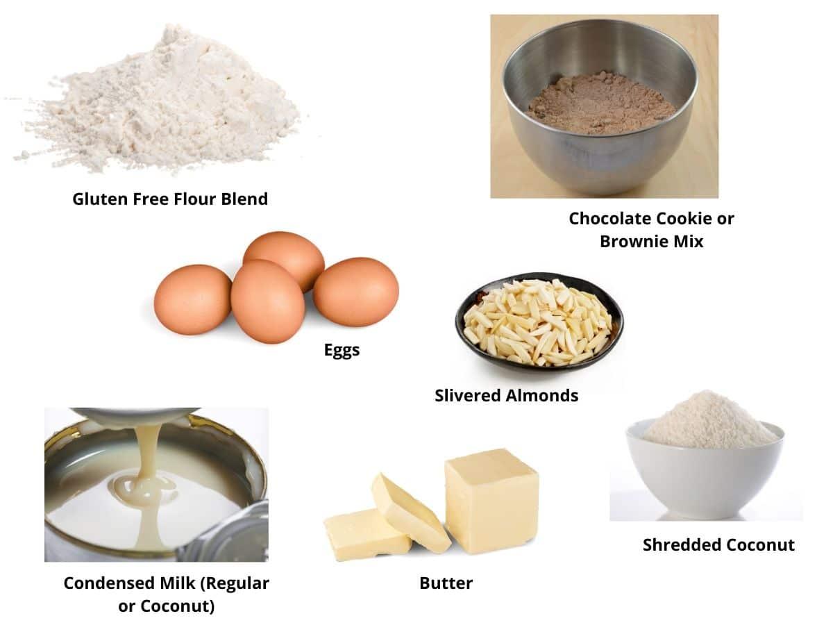 almond joy cookies ingredients