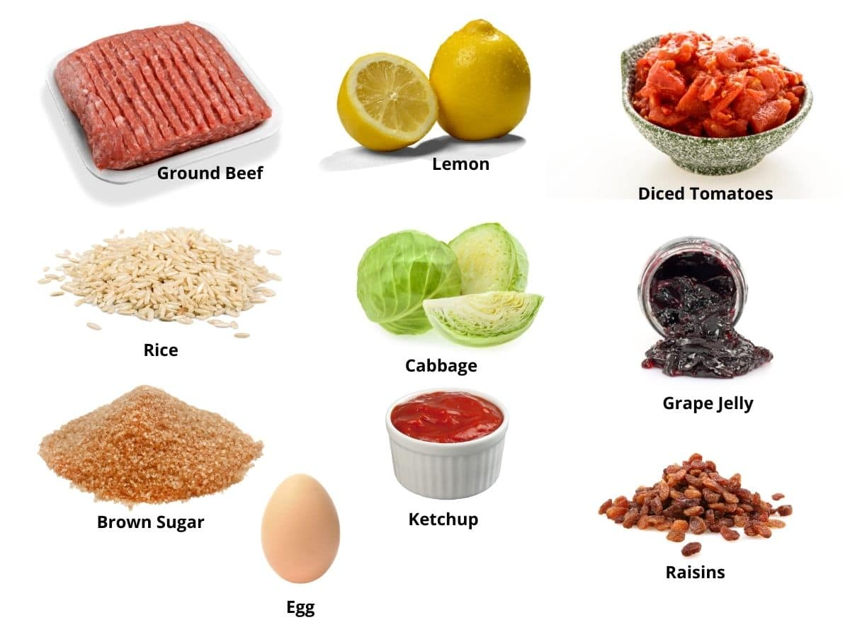 cabbage and meatballs ingredients