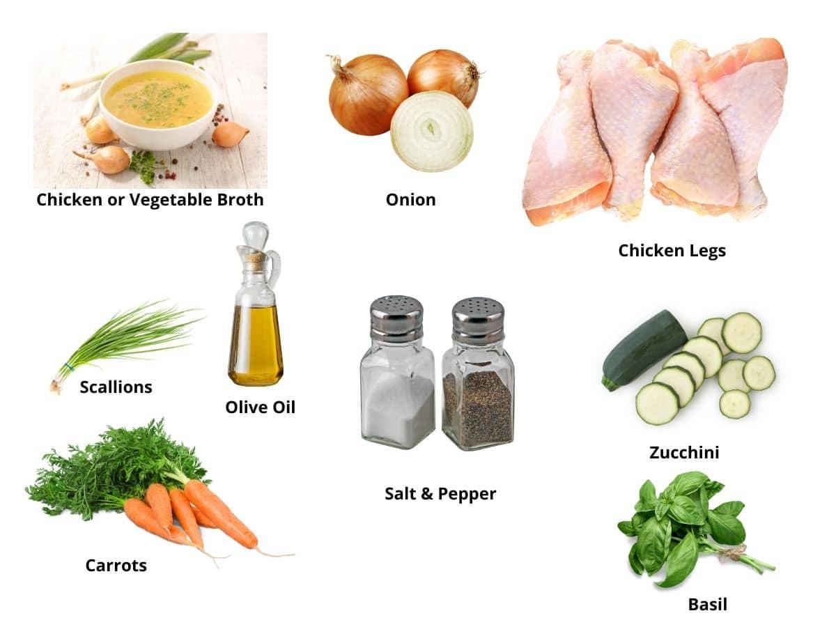 chicken legs ingredients