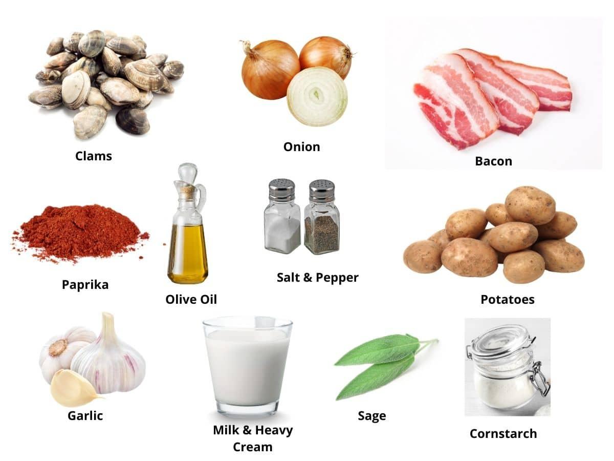 clam chowder ingredients