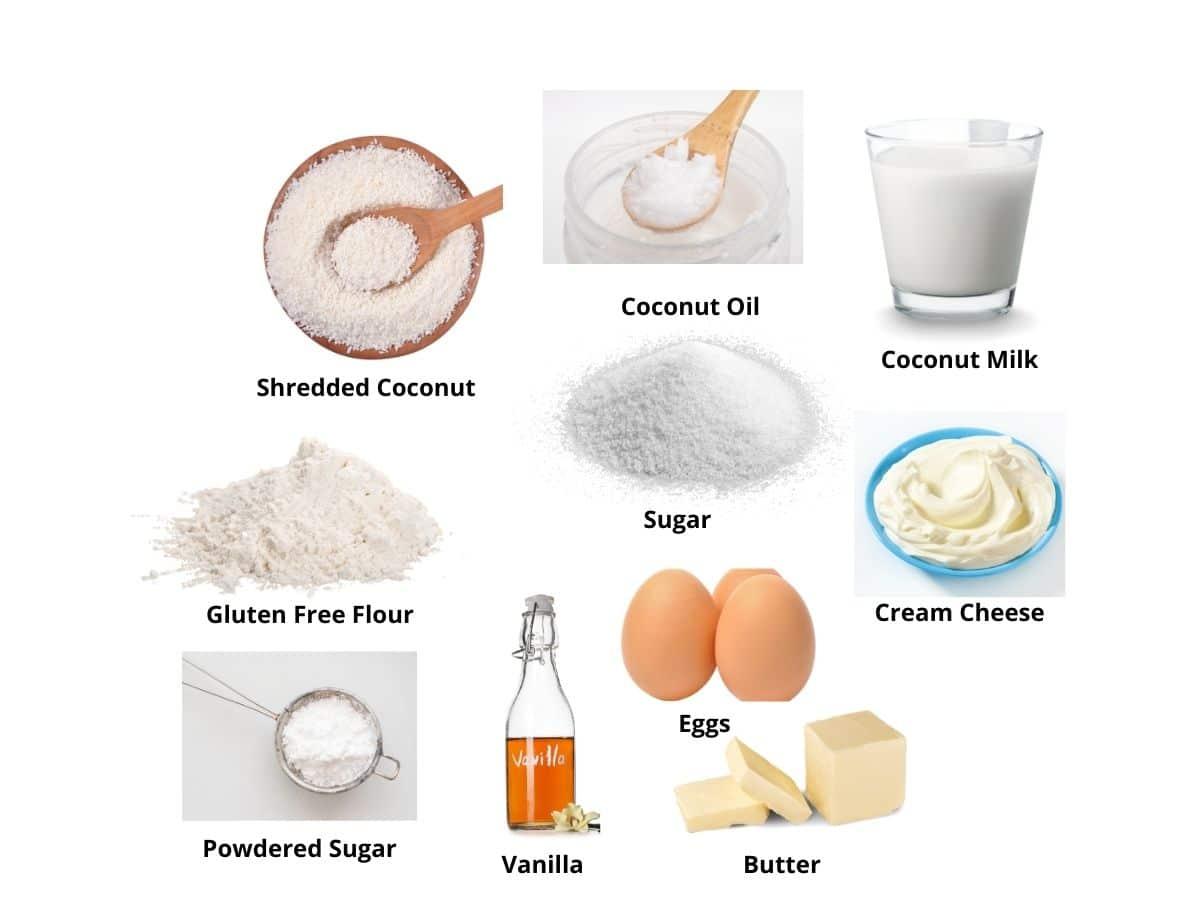 coconut cupcakes ingredients